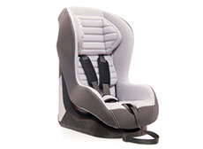 Black and grey padded booster seat
