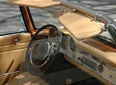 Light brown leather open top car