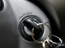 Key inside ignition