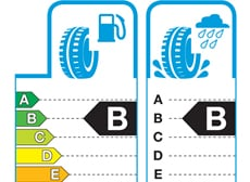 European Union mandatory tyre labelling A and B