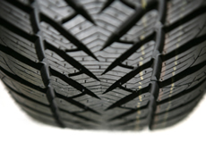 winter tyre close-up