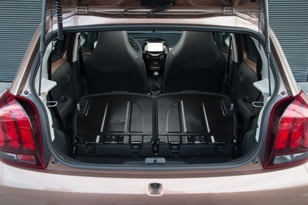 The boot area of the all-new Peugeot 108