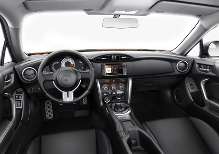 Inside the Toyota GT86.