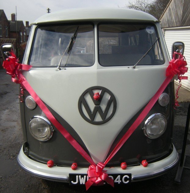 VW Campervan with Red Noses
