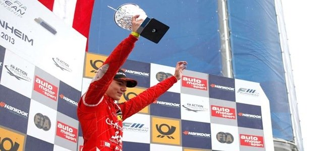 """Lello"" stands victorious on the top step (Credit: FIA F3 Europe)"