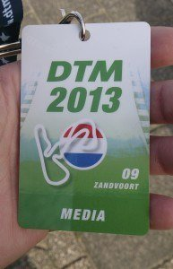 A DTM Media Pass (Credit: Alex Goldschmidt)
