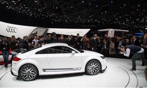 Everybody wants a piece of The Audi TT Quattro Sport Concept at hte Geneva Motor Show