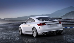 The thirty-five years of experience we've gained in the field of turbocharging are manifested in the Audi TT Quattro Sport Concept's his engine's unique combination of maximum performance, dynamism, and fuel efficiency.""
