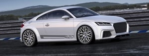 The Audi TT Quattro Sport Concept's silhouette gives the entire car a sense of purpose - and we all know what you will want to do with it