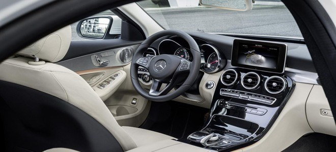 Interior of new Mercedes-Benz C Class Saloon (Image Credit: Mercedes-Benz UK)