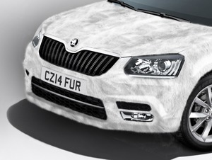 Skoda produced an April Fools joke with a car covered in fur