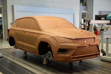A produced clay model when designing a new SEAT