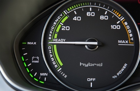 The A7 Sportback h-tron quattro power meter