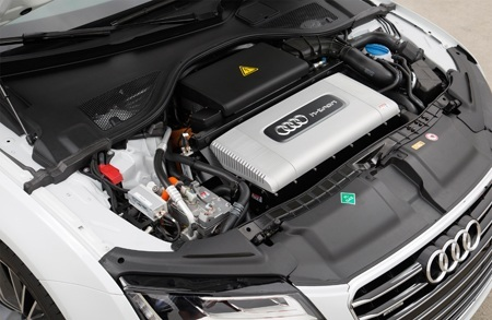The A7 Sportback h-tron quattro engine