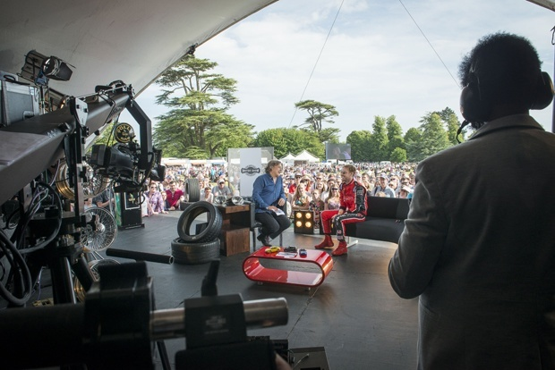 Alan Davies interviews at the Goodwood Festival of Speed 2015