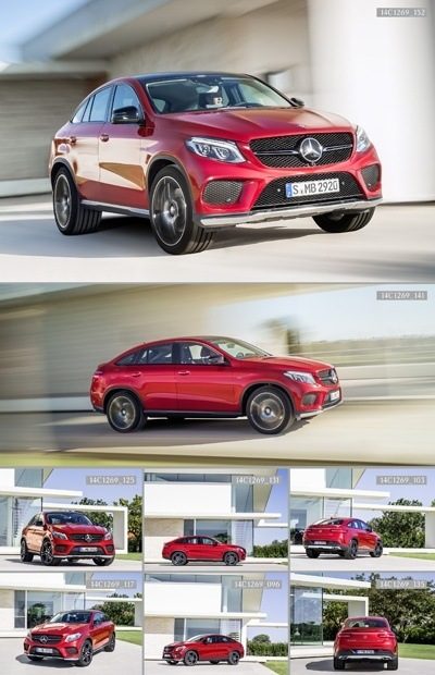 Mercedes-Benz GLE 450 AMG Coupé on the roads