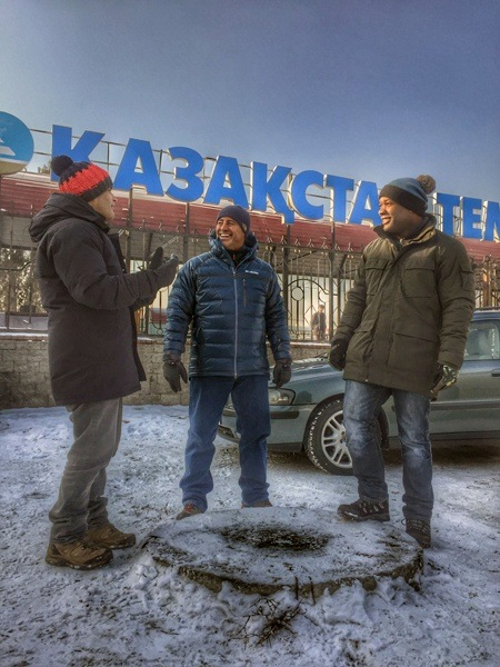 BBC Top Gear Presenters in Kazahkstan