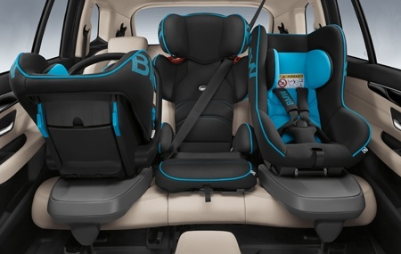 The new BMW 2 Series Gran Tourer with baby seats in