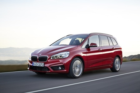 The new BMW 2 Series Gran Tourer on the raod