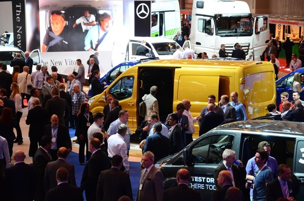 Crowds at the 2015 Commercial Vehicle Show