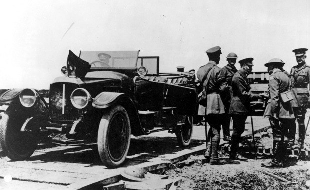 Vauxhall Staff Car as used by King George Ready for World War One Commemorative Service