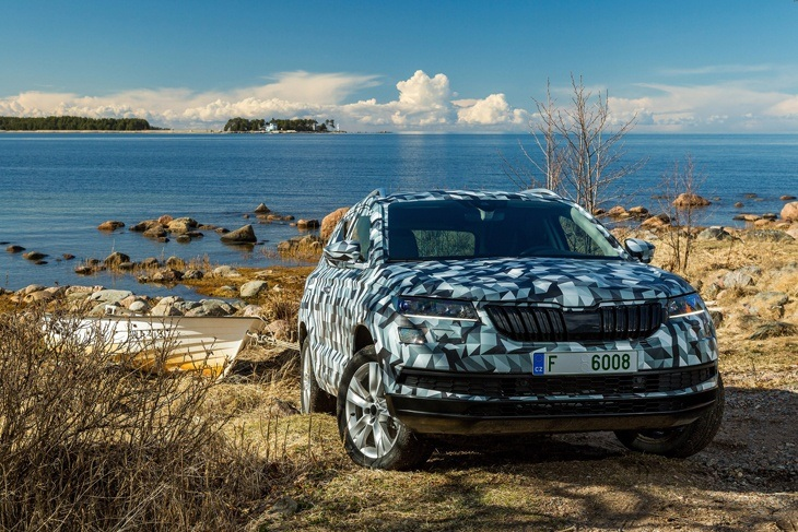 First images of the new Skoda Karoq front