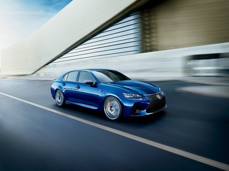 Lexus GS F V8 Saloon on the road