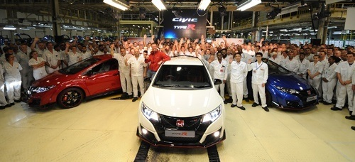 Honda Civic R-Type comes off the production line