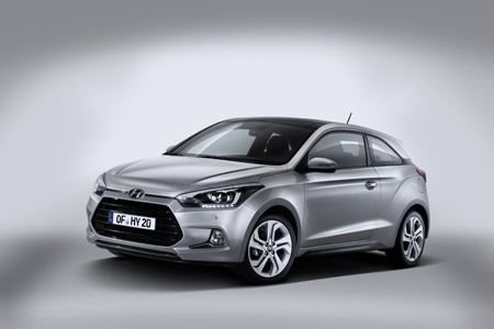 Hyundai New Generation i20 Coupe front view