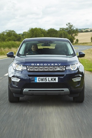 Land Rover Discovery Sport on the road