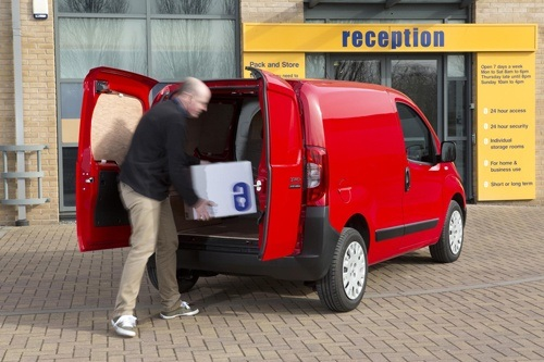 Man loading a van