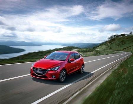 The new Mazda2 on the road