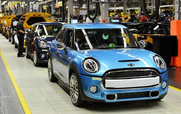 The new MINI 5-Door Hatch starts its roll off of the Oxford Production line