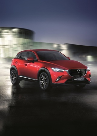 The all-new Mazda CX-3 test drives on the road