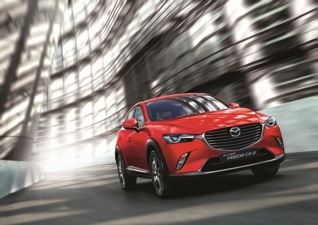 The all-new Mazda CX-3 on the road