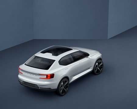 New Volvo Series 40 Concept Overhead View