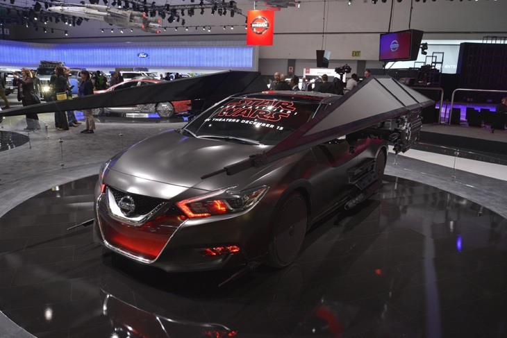 Nissan displays Star Wars Kylo Ren  Tie-in at LA Motor Show