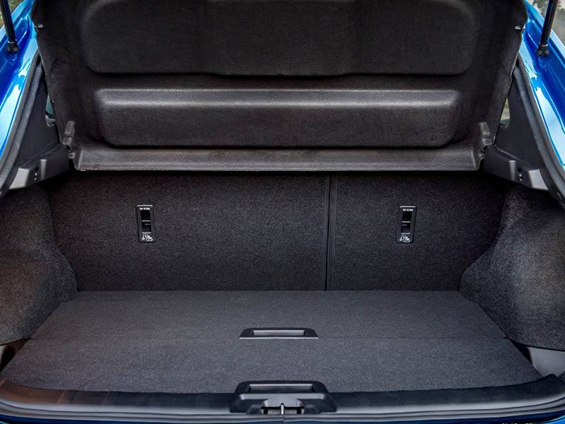 Blue Nissan Qashqai showing boot space