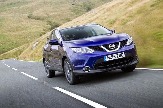 Nissan Qashqai on the road