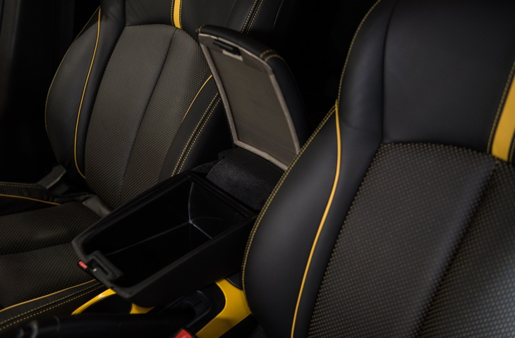Nissan Signal Shield Concept sits in the arm rest