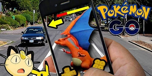 Pokemon Go and car