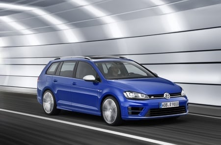 The new Golf R Estate on the road