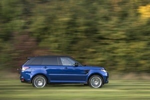 Range Rover Sport TVR on grass
