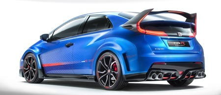 The new Honda Civic R Type Rear View