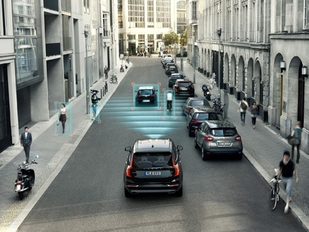 Safety technology on the Volvo XC90