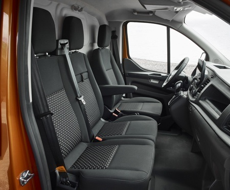 Seating in The new Ford Transit Custom commercial vehicle