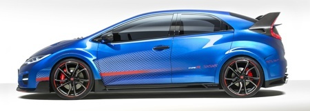 The new Honda Civic R Type Side View