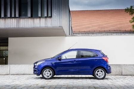 Side view of new Ford Ka+