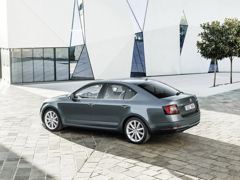 Grey exterior shot of the Skoda Octavia
