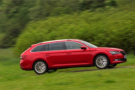 Skoda Superb Estate on the road